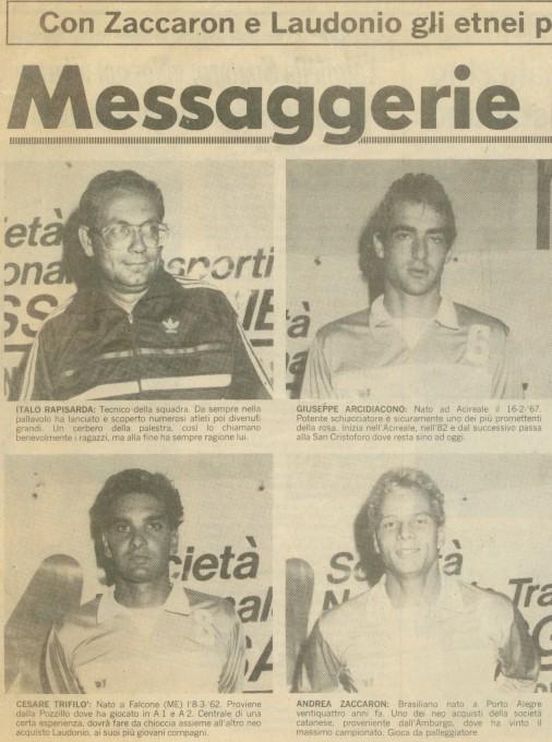 1987-88 Giornale - Campagna acquisti 12